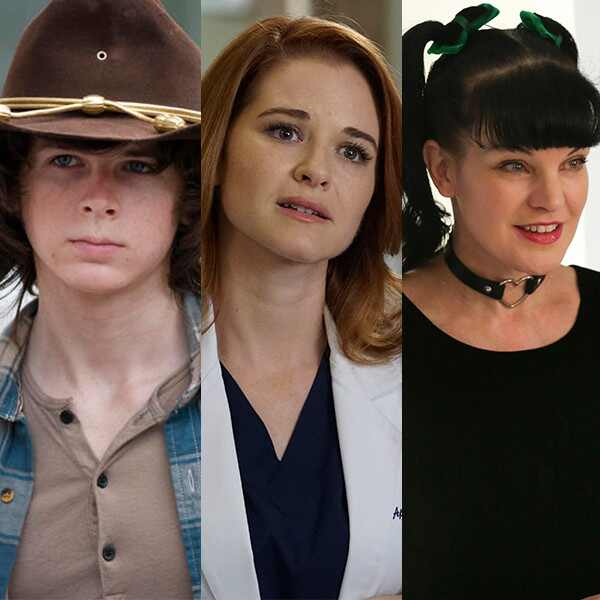 Chandler Riggs, Sarah Drew, Pauley Perrette, Saddest Death Split, Actor Exit Split